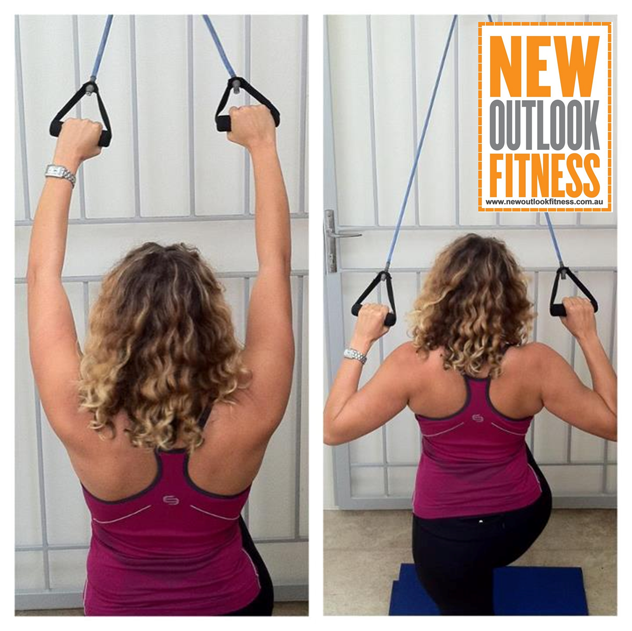Lat Pulldown At Home? Use A Resistance Band Tied To A Door