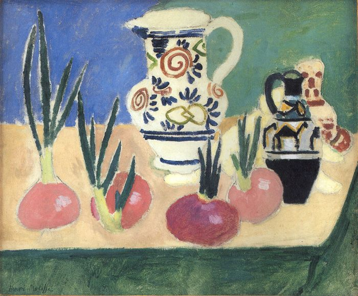 Henri Matisse  -  THE RED ONIONS  46 x 55 cm.  Statens Museum for Kunst, Copenhagen  c. 1906