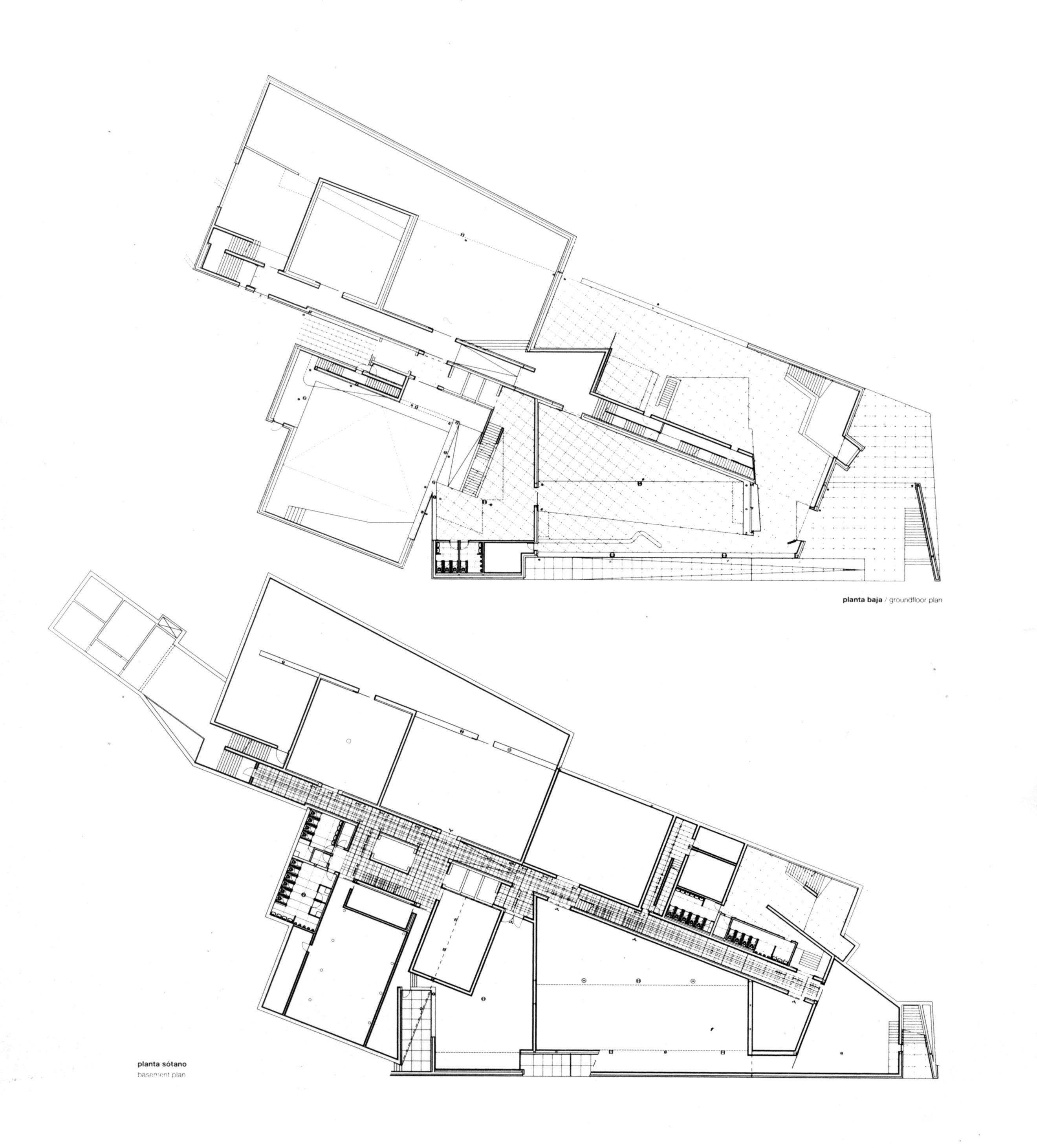 alvaro siza / centro galego de arte contemporânea  Plan ...