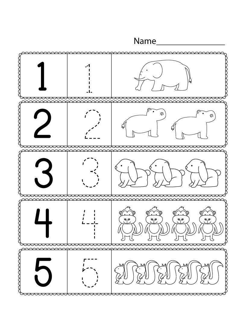 Free Preschool Printables Numbers preschool, Preschool