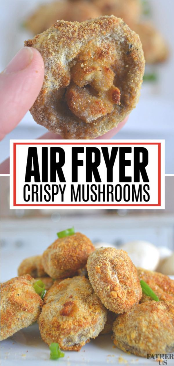 These Crispy Air Fryer Mushrooms are the perfect healthy