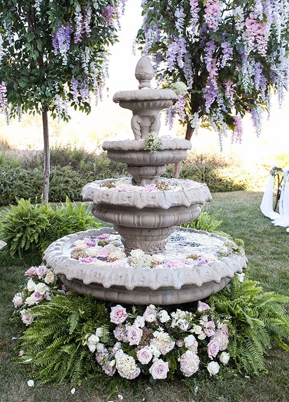 romantic garden fountain These Insane Floral Designs Are The Definition of Flower