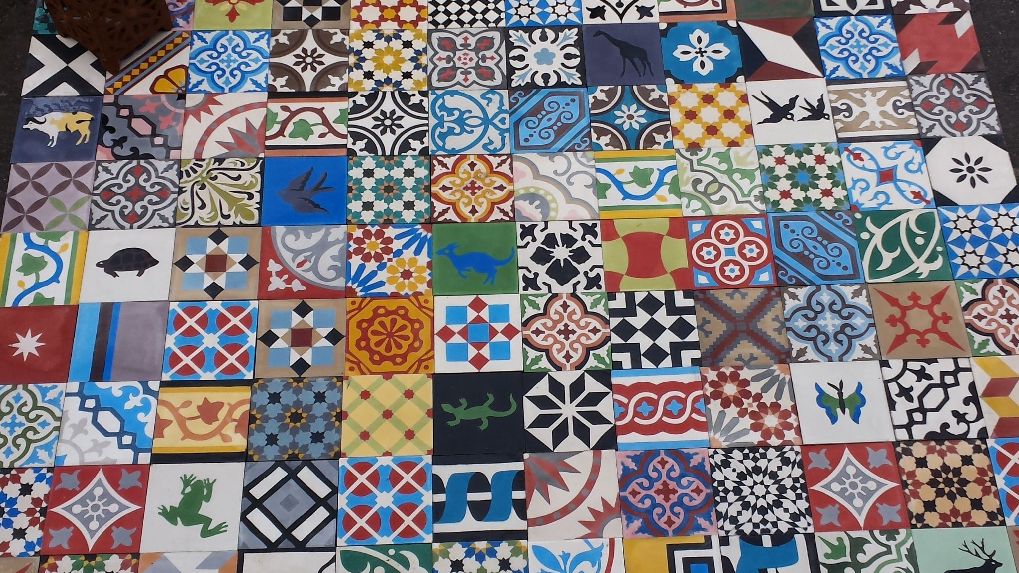 Selection Of Our New Stock Encaustic Moroccan Tiles It S Free