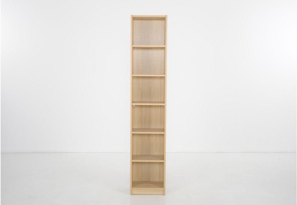 Oscar Tall Narrow Bookcase Super Amart