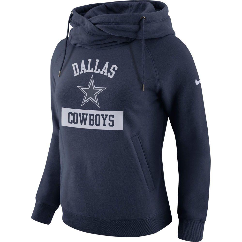 Women S Dallas Cowboys Nike Navy Tailgate Funnel Pullover Hoodie Hoodies Nike Women Funnel Neck Hoodie [ 1000 x 1000 Pixel ]