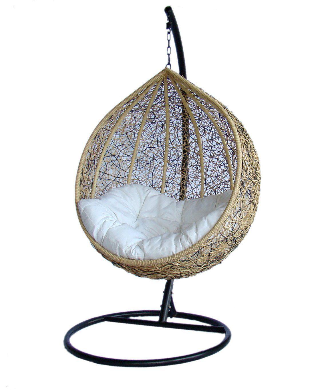 Amazon Com Trully Outdoor Wicker Swing Chair The Great Hammocks K003ab Patio Lawn Garden Swinging Chair Bedroom Hanging Chair Basket Chair