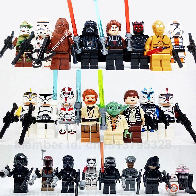 Junogo Lepine 24 Sztukpartia Star Wars Darth Vader Yoda Obi Wan Bb8