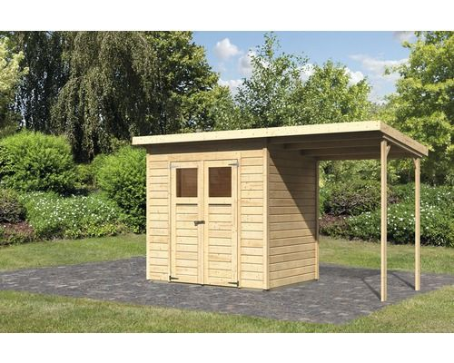 gartenhaus merseburg 3 im set 212 x 154 cm natur bei hornbach kaufen gardentime. Black Bedroom Furniture Sets. Home Design Ideas