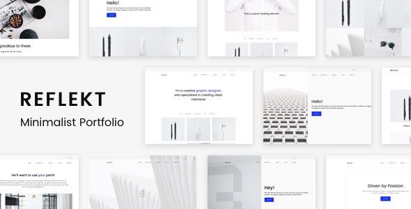 Reflekt - Minimalist Portfolio Theme
