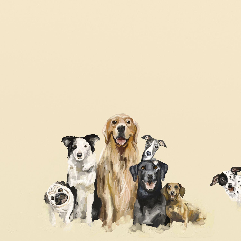 Best Friends Puppy Pack Wall Art Dog Art Animal Art Colorful Animals