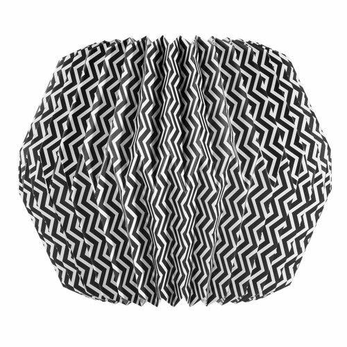 Suspension origami en papier noir blanc zigzag maisons for Miroir zig zag