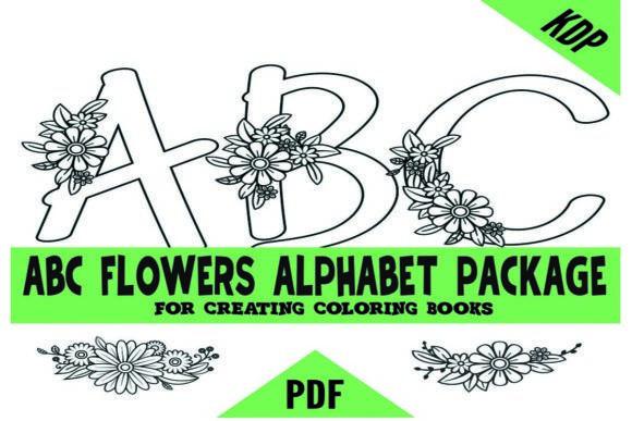 ABCs Alphabet Flowers KDP Coloring Pages #Sponsored , #AFFILIATE, #Flowers, #Alphabet, #ABCs, #Pages