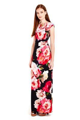 76e2dc126b Wallis Black floral printed bloom maxi dress   Debenhams   Style ...