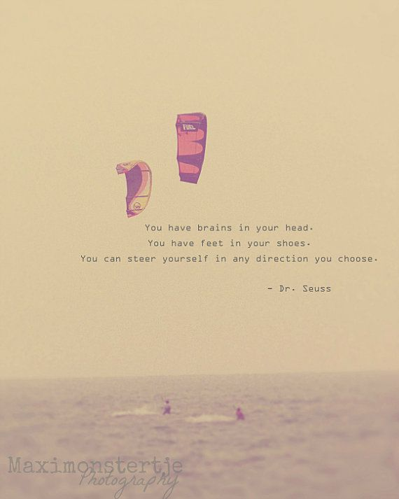 Inspirational Quote Photo, Retro, Whimsical, Dr. Seuss