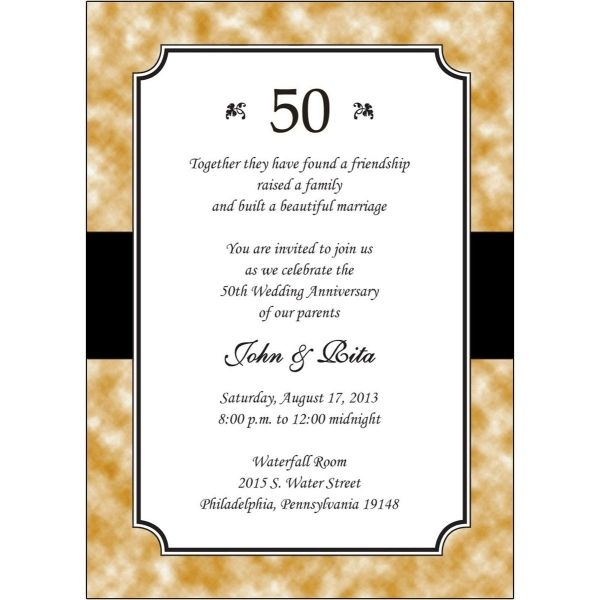 awesome 7+ invitations for 50th wedding anniversary Wedding - anniversary invitation template