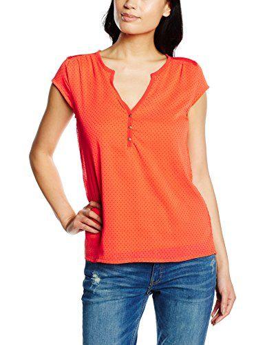 Naf Naf Orge, T-Shirt Femme Femme, Orange (0841 Tangerine... https ... c47c3e58d8b0