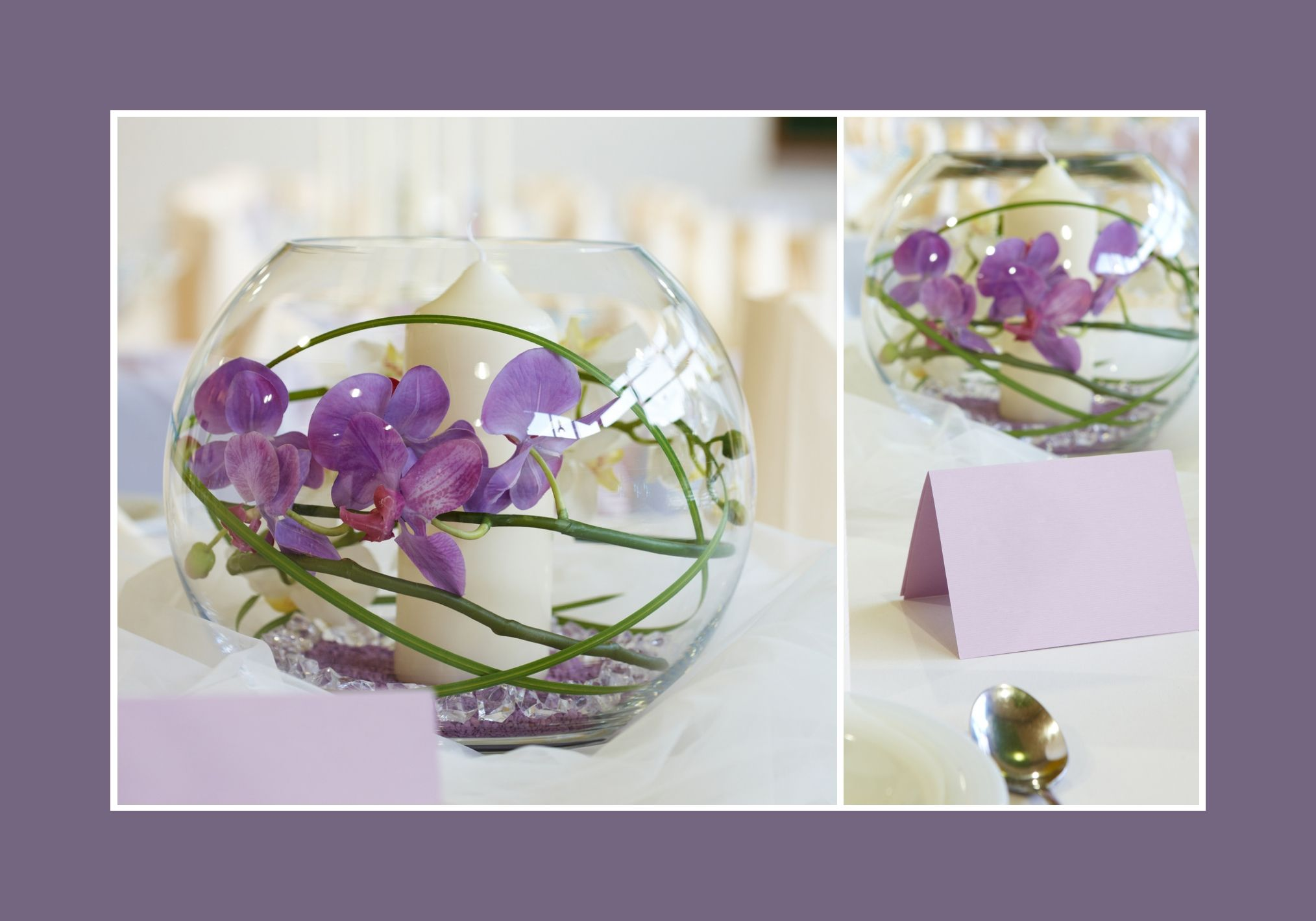 orchideen im glas hochzeit pinterest glas tischdeko hochzeit und tischdeko. Black Bedroom Furniture Sets. Home Design Ideas