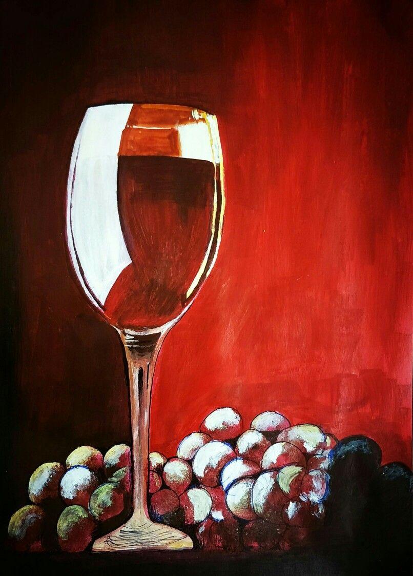 Pin By Katharina On Art In 2020 Wine Painting Wine Glass Art Wine Art