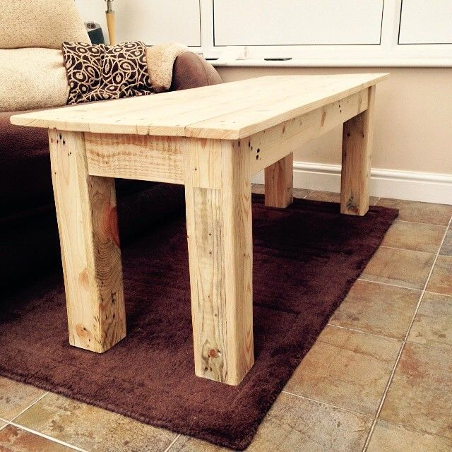 Coffee table made from recycled pallets #recycled #upcycling #palletfurniture #pallet
