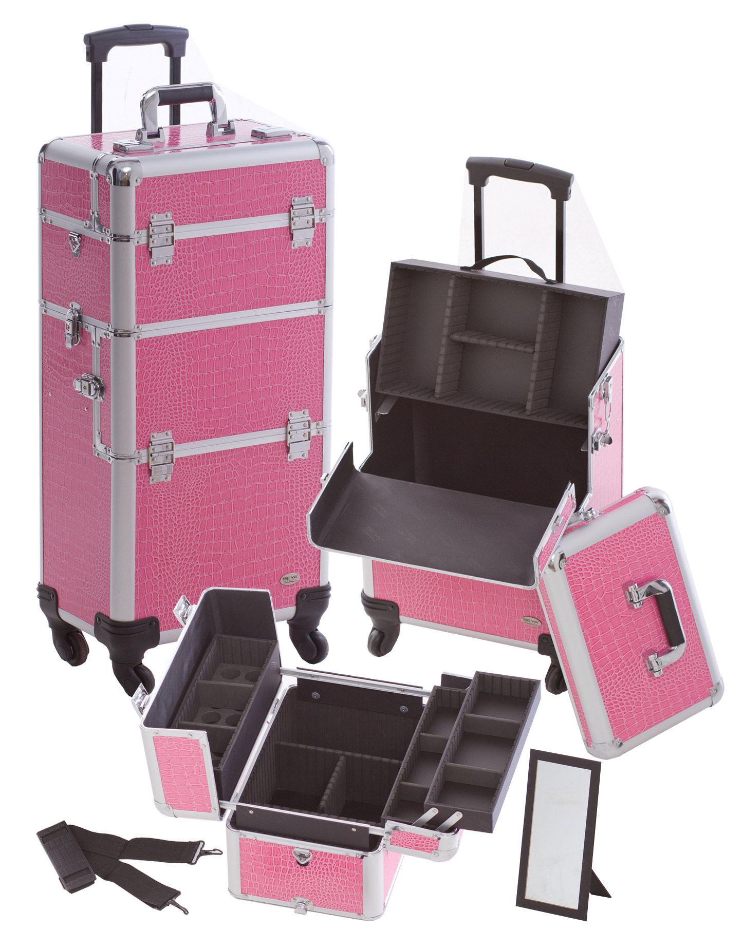 Makeup Suitcase On Wheels Makeup Vidalondon