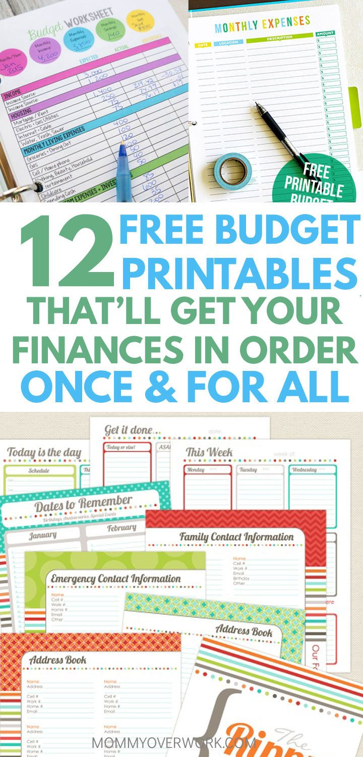 12 Best Free Budget Printables to Get Your Money Under Control ...