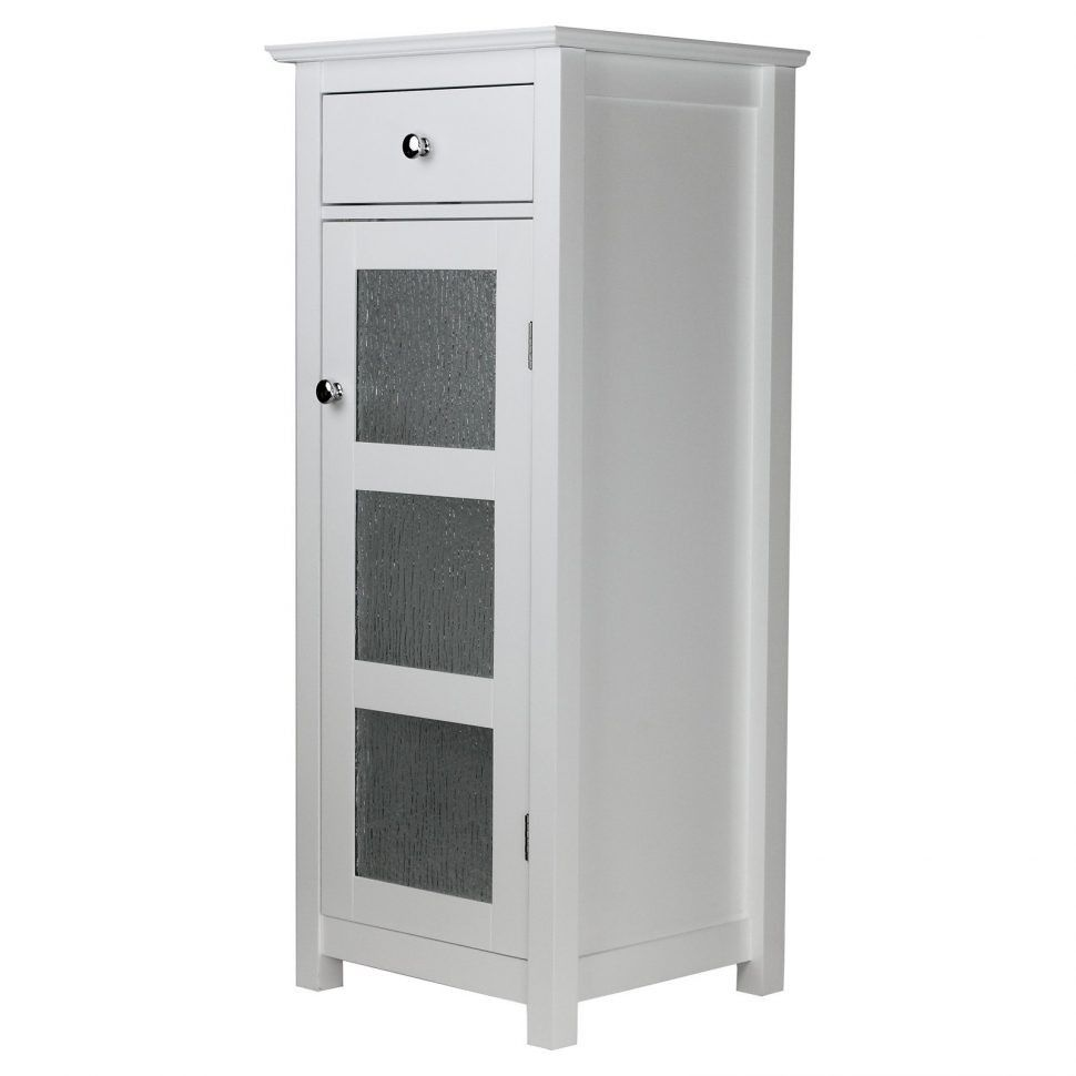 Elegant Home Fashions Madison Avenue Collection Shelved Corner Wall Cabinet White