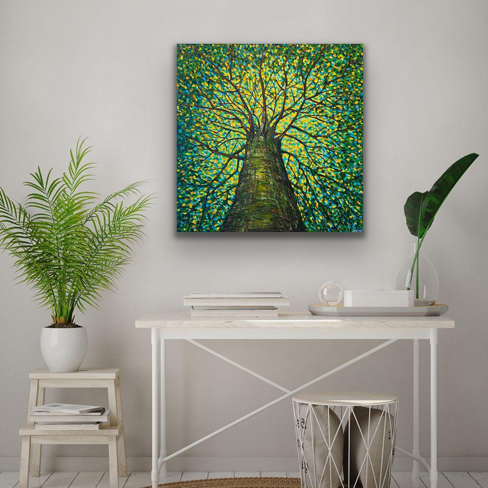 The Tree of Life - Summer, Acrylic on canvas, 76 x 76 cm Worldwide Shipping, Link for order #artroomsapp #artportfolio #paintingsdaily #loveart #artroom #painting #artprojects #artspace #artroomdecor #artforeveryone #todaysart #studioart #livingroom #interiordesing #decoration #interior4you #artforsale #interiorstyling #home #interior4all #homestyle #interiorforyou #homedeco #interiordesign #homelovers #housedecoration #housedecor #homeinterior #homedesign #interiordecoration