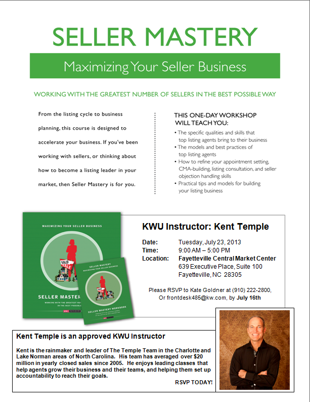 Seller Mastery Class taught by an Approved KWU Instructor.