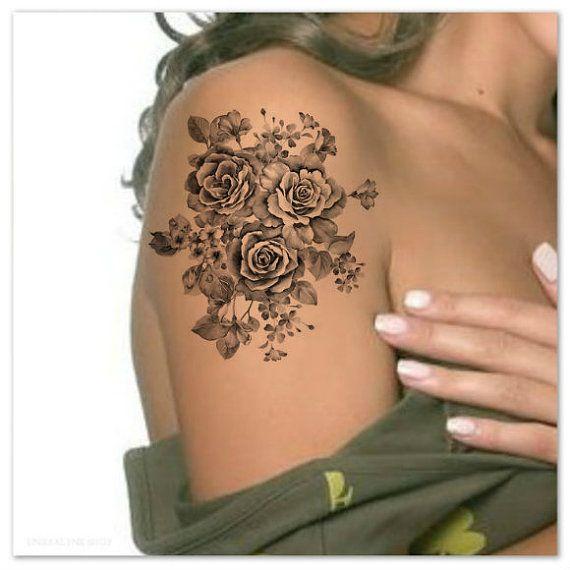 Temporary Tattoo Flower Ultra Thin Realistic Waterproof ...