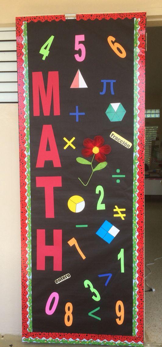 La puerta de matematica decorada pr jeje lema 16 17 for Puertas escolares decoradas