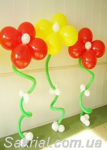 гелиевый цветов из шаров