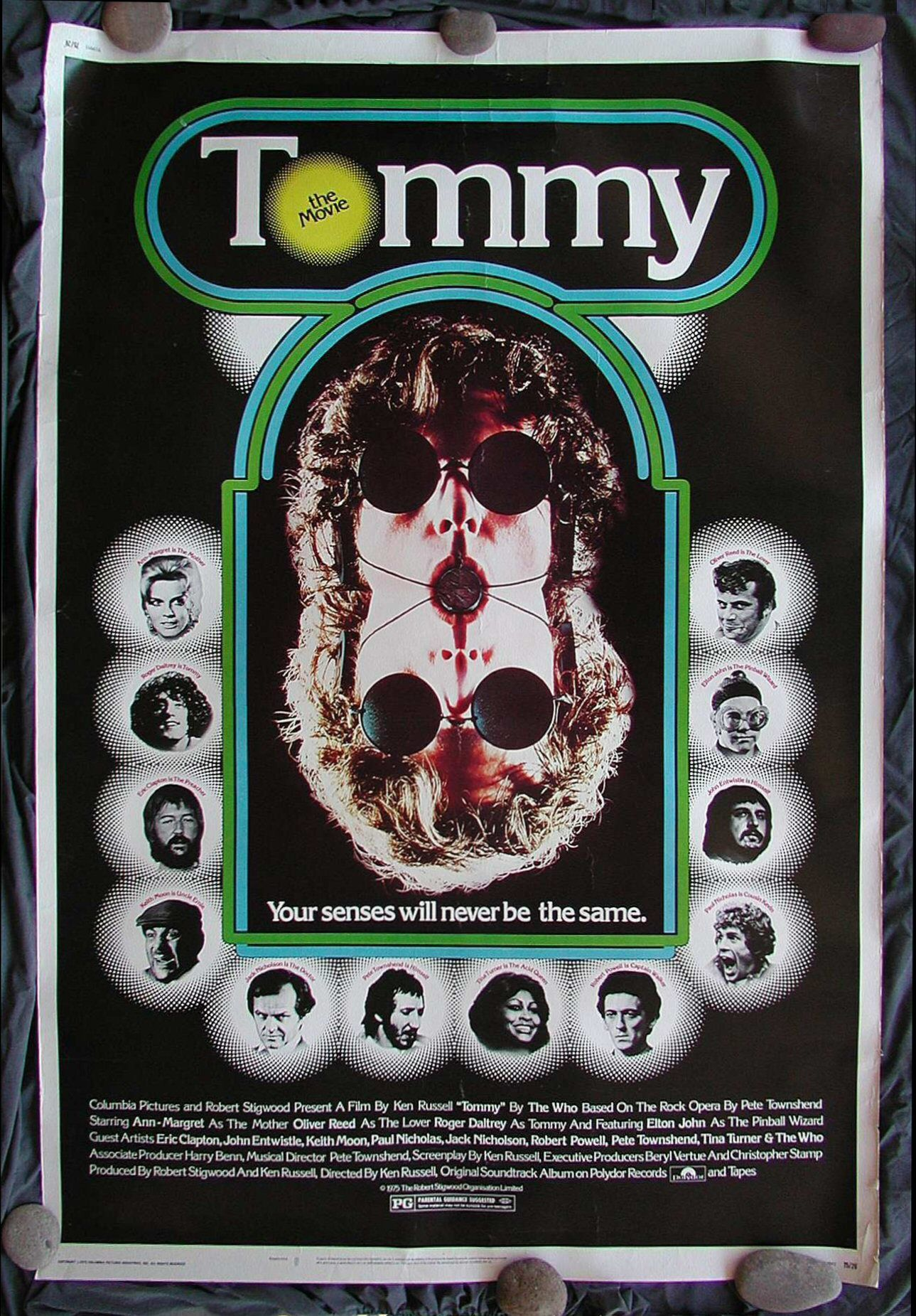 Tommy Cinemasterpieces 40x60 Original Rock Music Movie Poster 1975 The Who Tom Movie Posters Rock Opera Oliver Reed