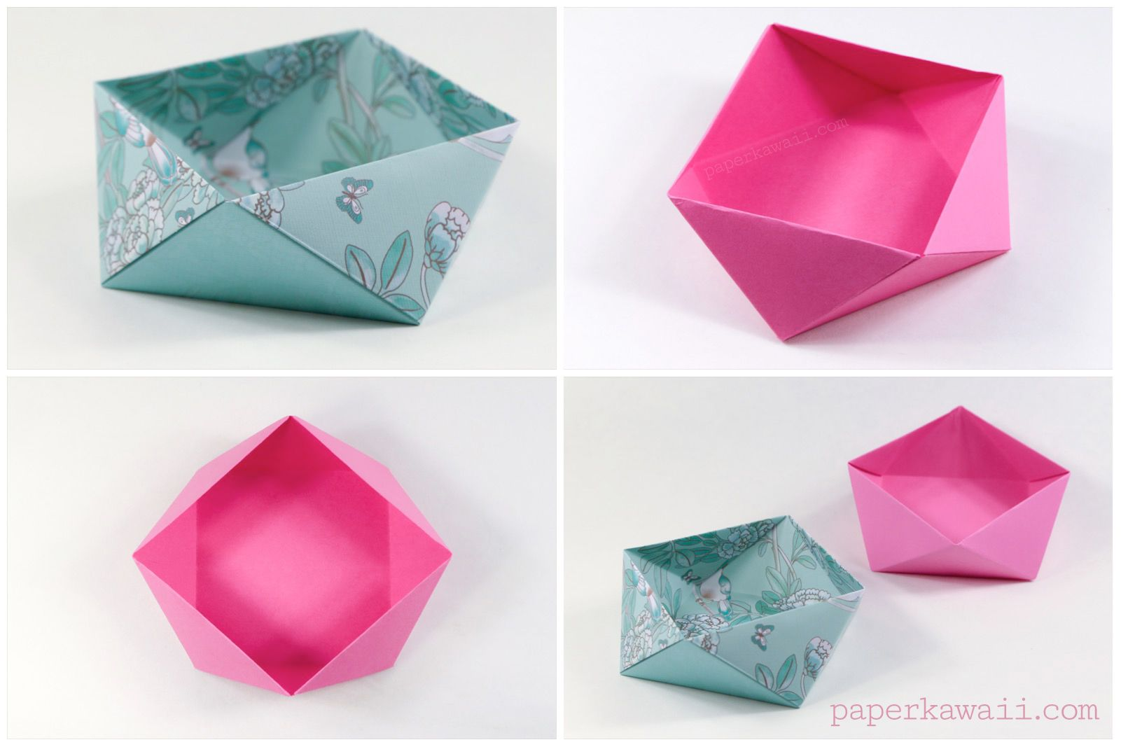Learn How To Make A Traditional Origami Square Bowl Or Box This Looks As