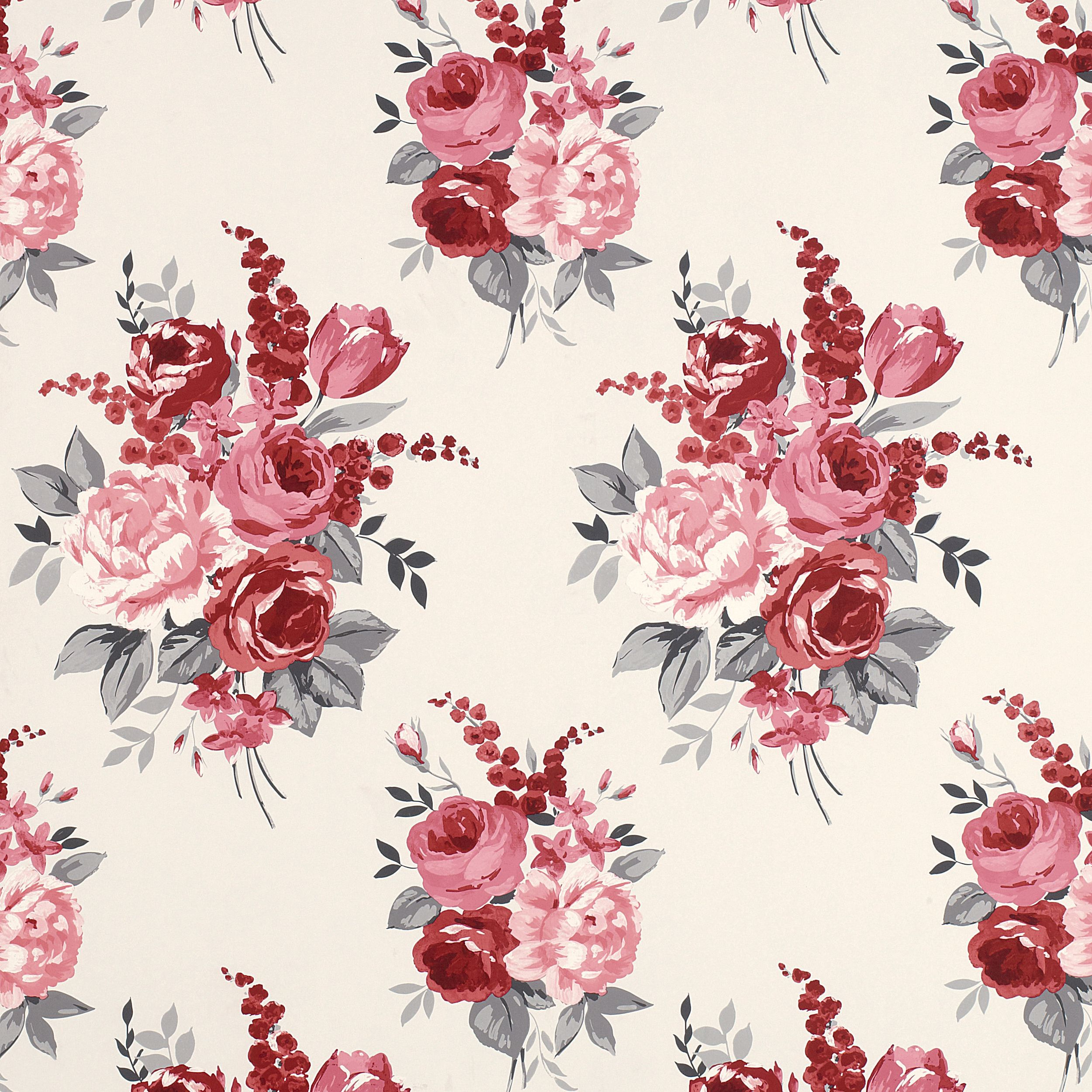 This is a chiswick cranberry floral wallpaper made by for Print wallpaper designs