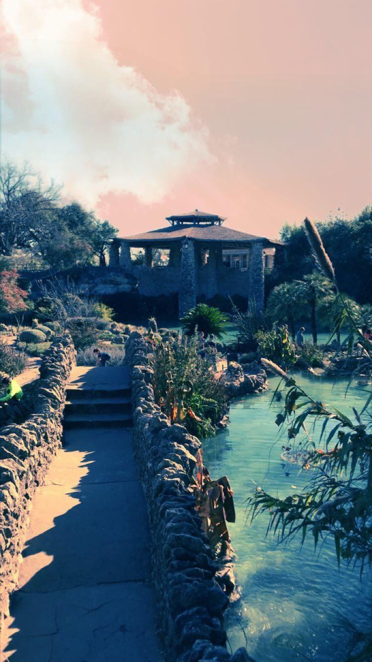 Japanese tea garden in San Antonio Texas Tea garden, San