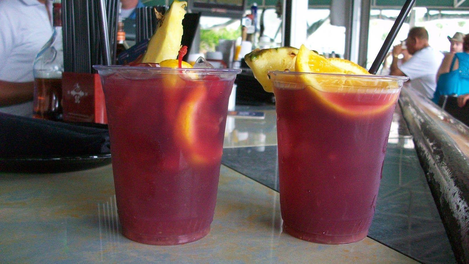 Sangria At Lido Beach Resort Tiki Bar On Key Florida