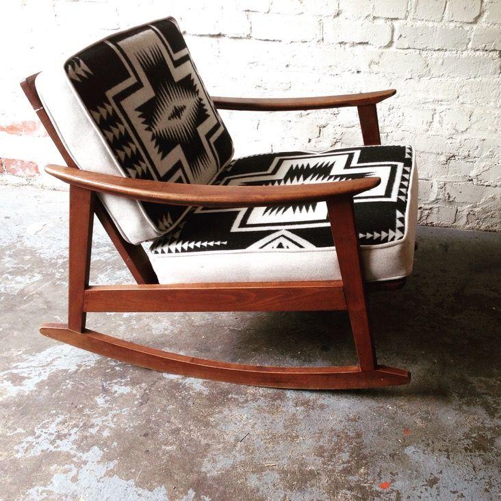Mid Century Rocking Chair In Pendleton