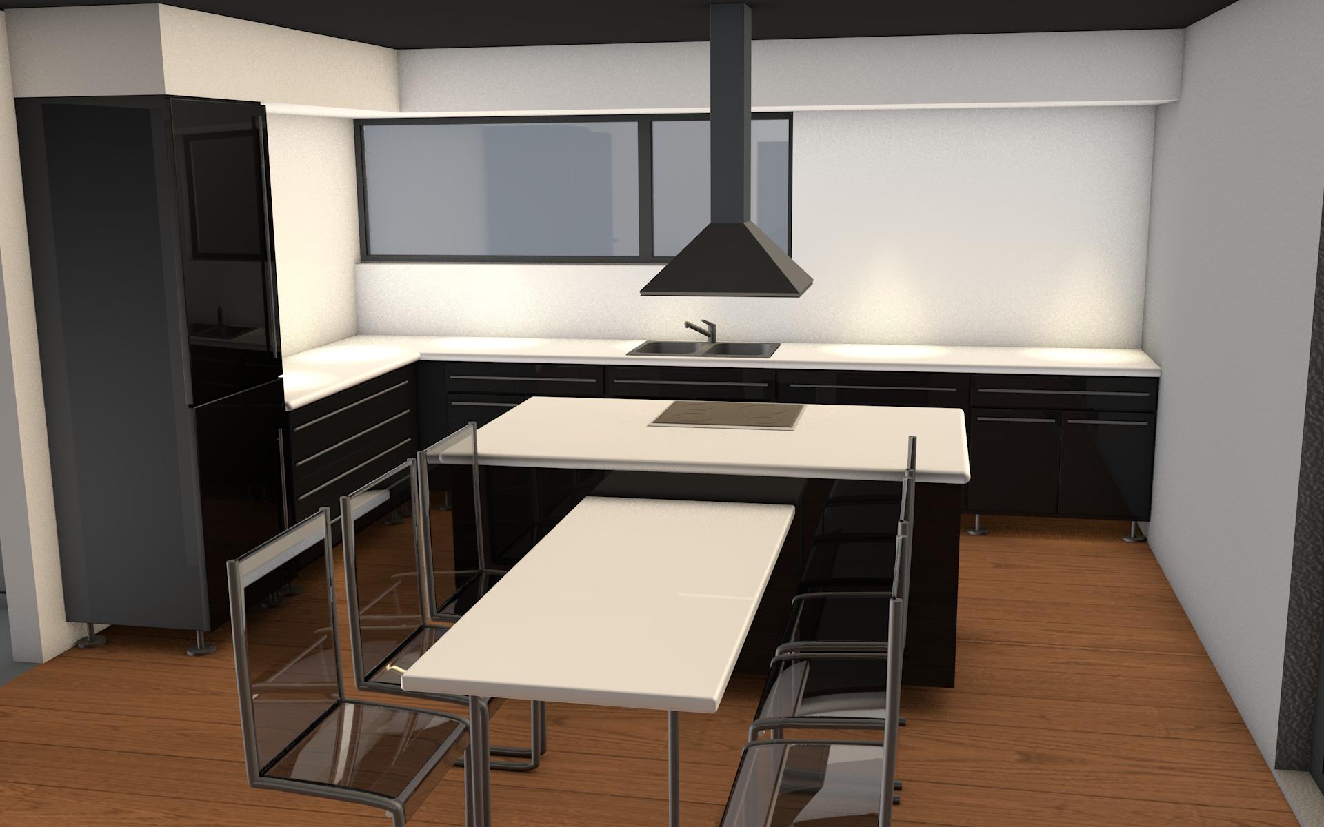 Kookeiland met uitschuifbare tafel extra genieten in eigen keuken