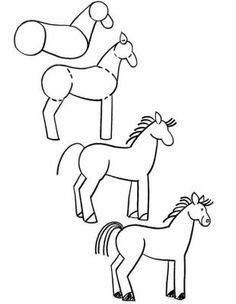 Comment apprendre a dessiner un cheval enfant 2 - Comment dessiner le drapeau d angleterre ...