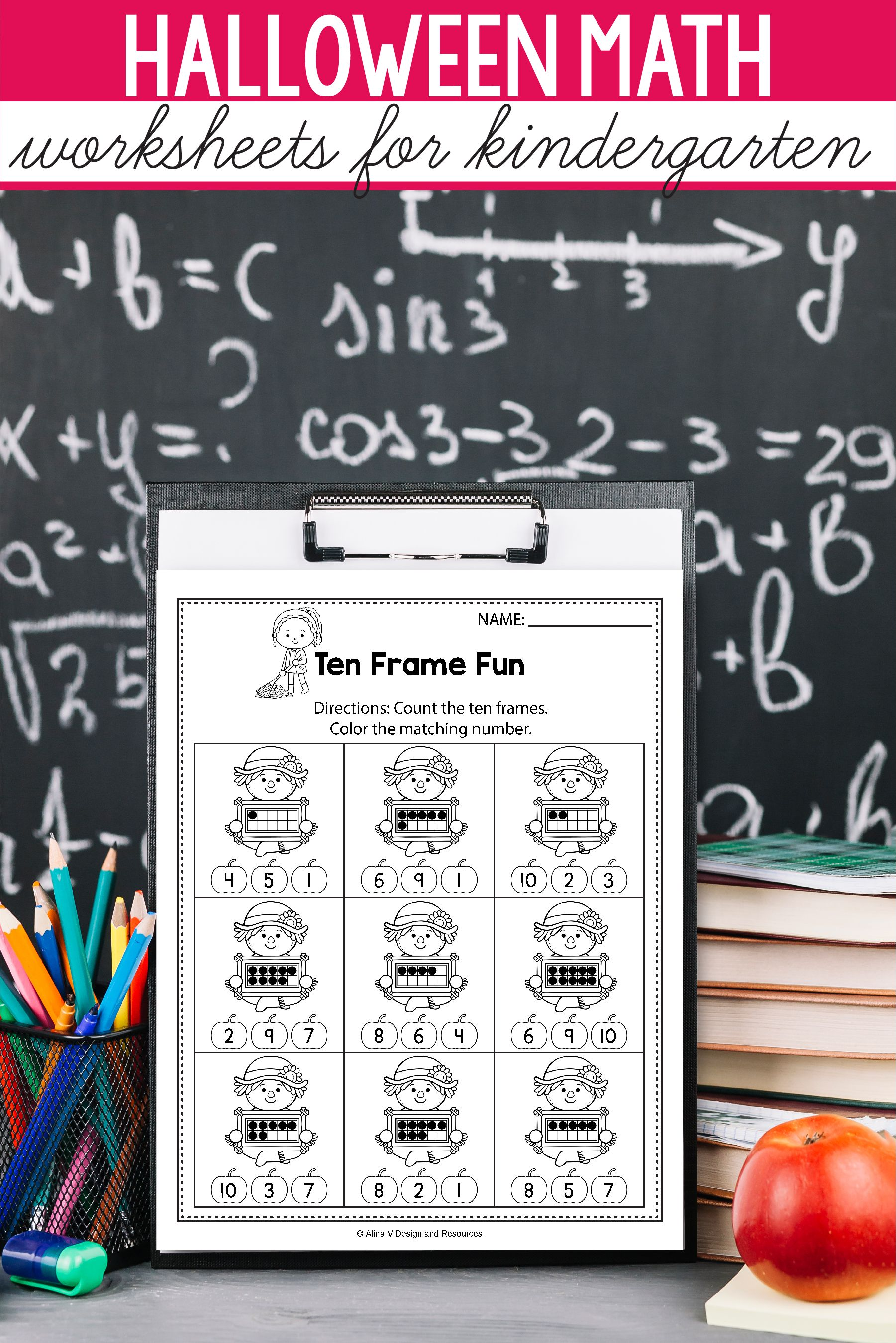 Halloween Math Activities For Kindergarten 1st Grade And