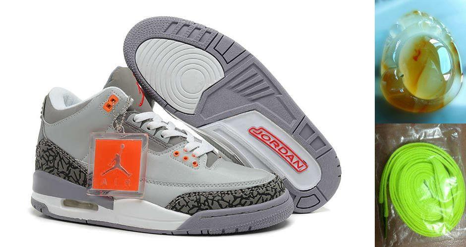 dd90e82644081c ... france now buy nike air jordan 3 mens retro grey crimson white cemenst  shoes new save