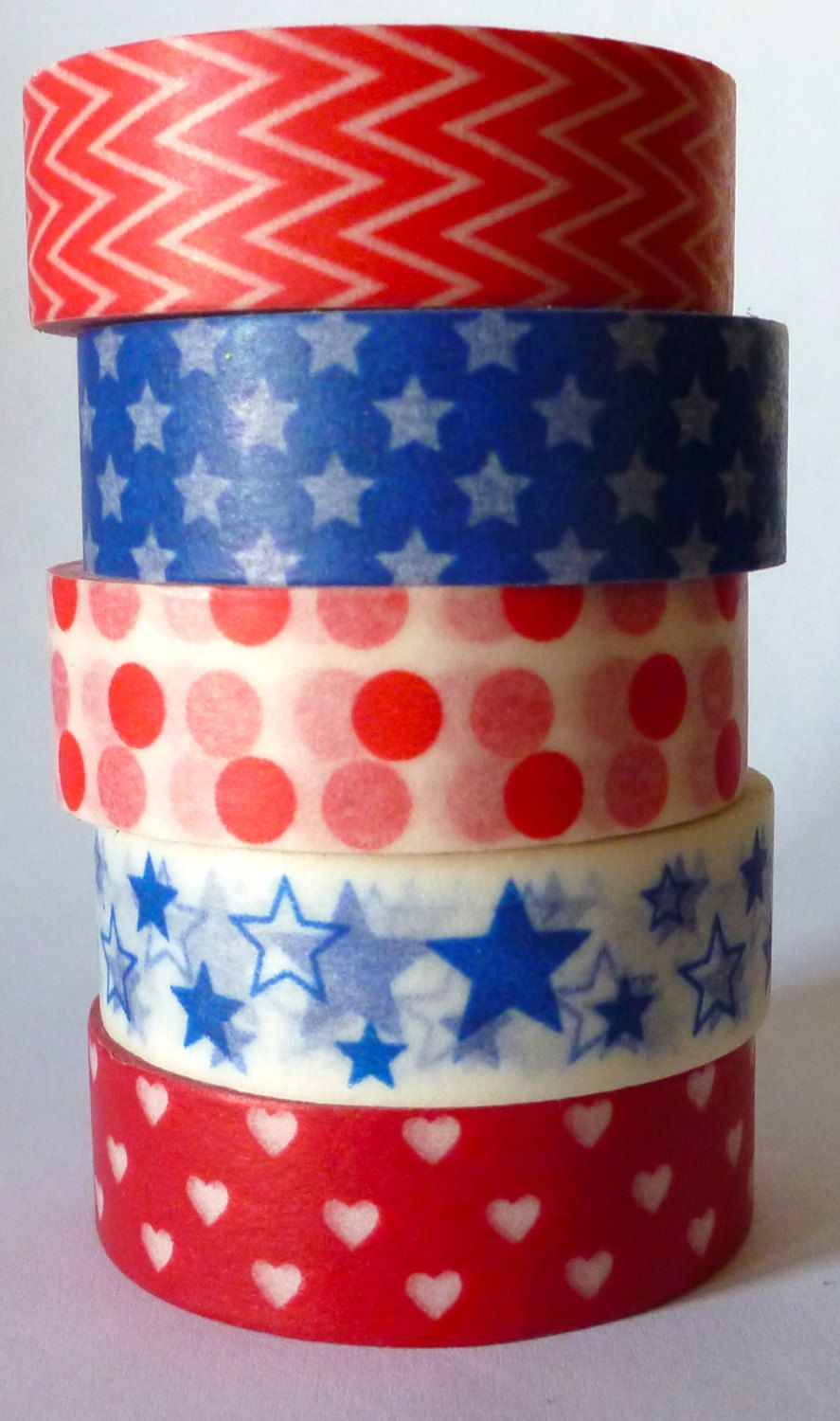 Red White Blue Washi Tape Set 5 Rolls 4th Of July By Sweetmline 13 95 With Images Washi Tape Set Washi Tape Projects Washi Tape Crafts