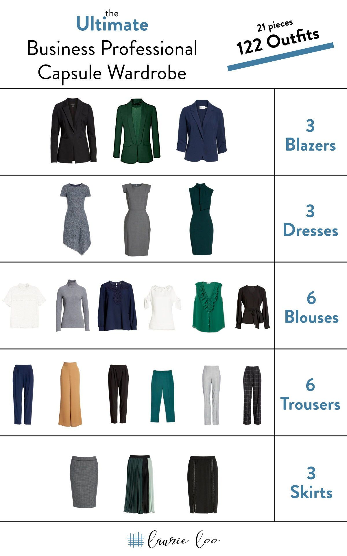 Need to create a business professional work capsule wardrobe on a budget? you can do it only 20 pieces and have outfits for months, girlfriend!