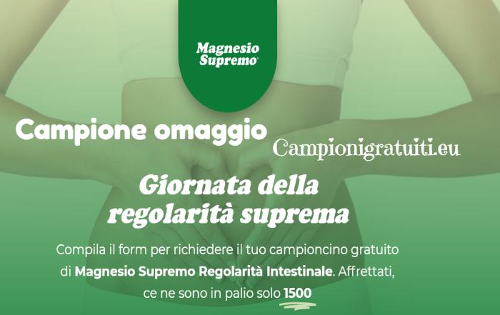 Campione Gratuito Magnesio Supremo Regolarità Intestinale