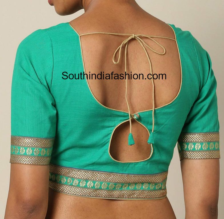 Blouse Back Neck Designs For Cotton Saree Blouses Blouse Neck Designs Back Design Of Blouse Cotton Saree Blouse Designs