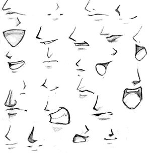 Animation Beginner Anime Style Mouths And Noses Anime Mouth Drawing Mouth Drawing Anime Nose