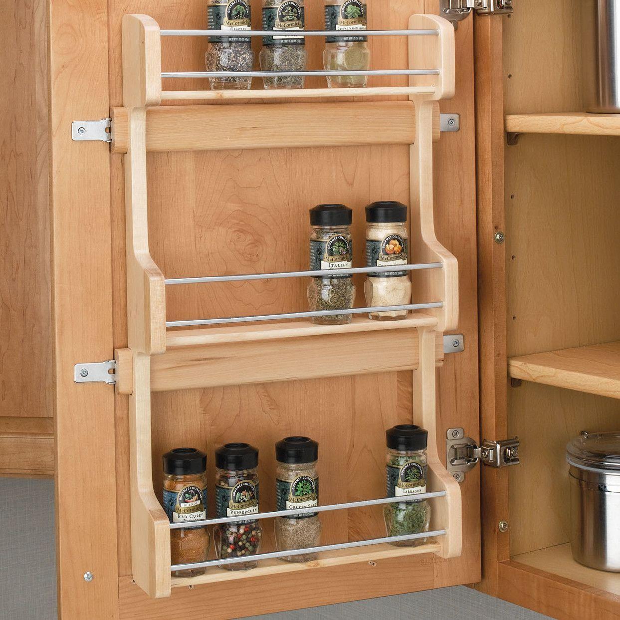 Cabinet Door Mount 3 Shelf E Rack