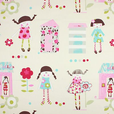 Nina 1 - offwhite - Kids Fabrics - Children's Fabrics Girls - Extra wide Decorator Fabrics - myfabrics.co.uk