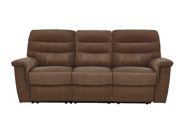 furniture village relax station serenity 3 seater fabric recliner rh pinterest com