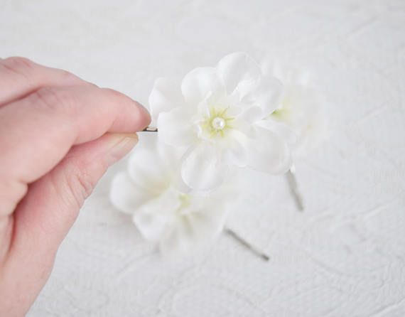Whiteflower hair clips wedding hair accessories bridal hair floral whiteflower hair clips wedding hair accessories bridal hair mightylinksfo